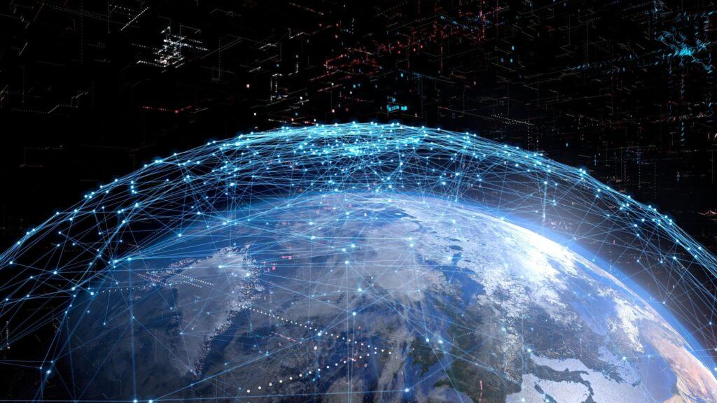 globe map 5G satelite